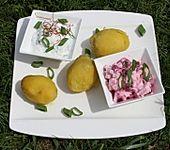 Zweierlei isländische Frischkäsedips an Pellkartoffeln