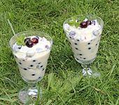 Pudding-Joghurt-Creme mit Jostabeeren