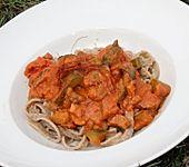 Gurken-Champignons-Tomaten-Sahnesauce