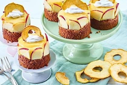 Vegane Apfel-Törtchen
