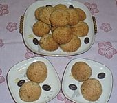 Kekse mit Mokkakern, Haselnüssen und Mandeln (Bild)
