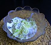 Matjessalat für das Silvesterbuffet
