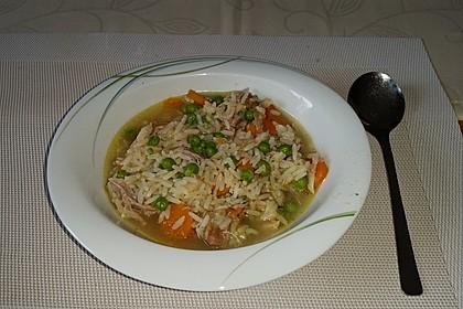 Hühnersuppe mit Reis 11