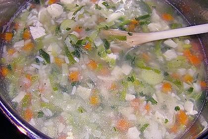 Hühnersuppe mit Reis 18