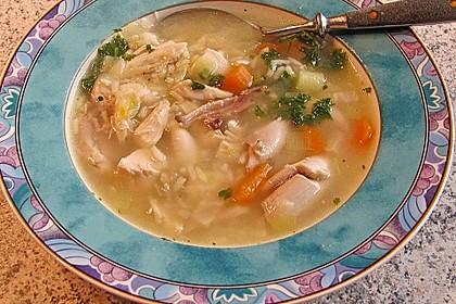 Hühnersuppe mit Reis 5