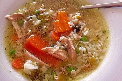 Hühnersuppe mit Reis 6
