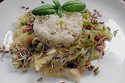 Gemüsepfanne mit Reis