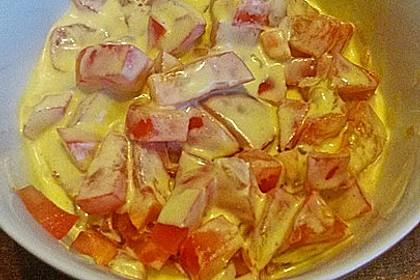 Tomatensalat mit Schmand und Honigsenf 5