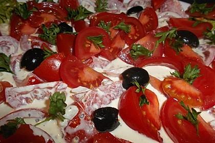 Tomatensalat mit Schmand und Honigsenf 2