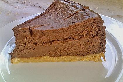Schokoladen - Käse - Kuchen mit Amaretti 7