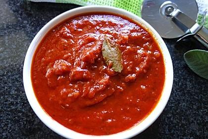 Tomatensoße für Pizza