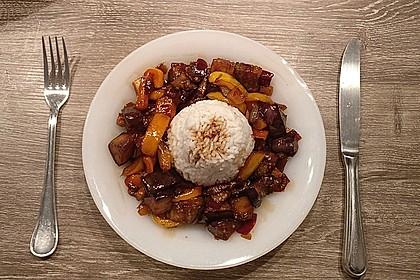 Süße Auberginen mit Knoblauch 6