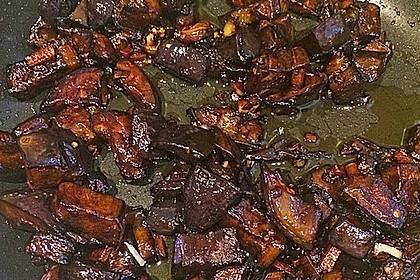 Süße Auberginen mit Knoblauch 2