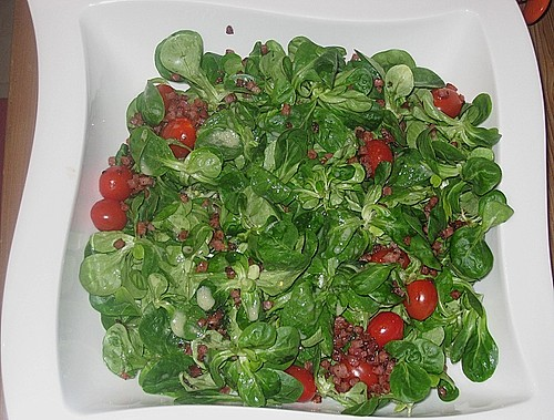 dressing f r feldsalat salat mit wild oder rehkeule rezept mit bild. Black Bedroom Furniture Sets. Home Design Ideas