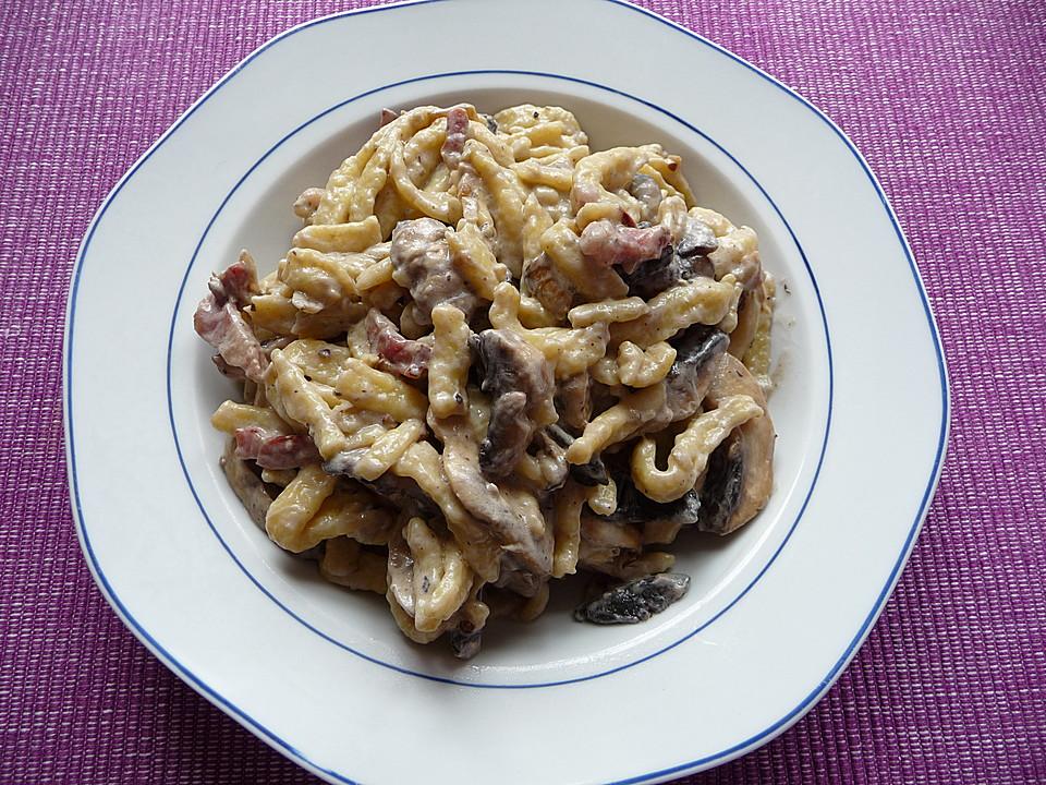spätzle champignon pfanne