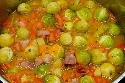 Rosenkohl - Gemüse - Eintopf mit Kasseler
