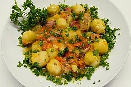 Rosenkohl - Gemüse - Eintopf mit Kasseler 1