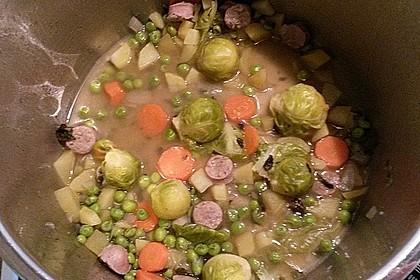 Rosenkohl - Gemüse - Eintopf mit Kasseler 3