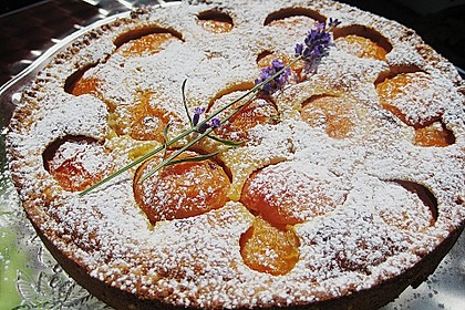 Aprikosenkuchen mit Mandelguss 2