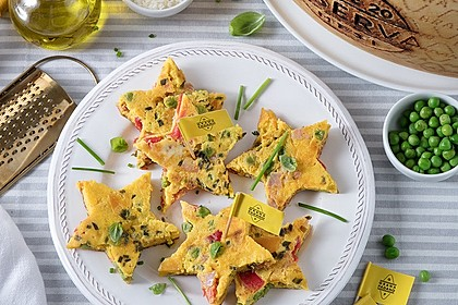 Sternförmige Omelettes mit Grana Padano
