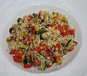 Getreide-Reis-Pfanne mit Gemüse (Bild)