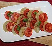 Harzer Käse-Tomate-Carpaccio