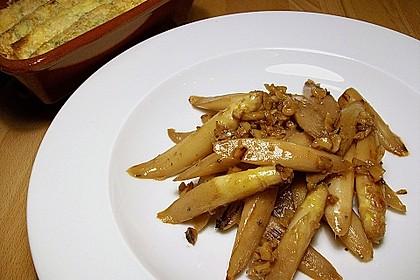 Gebratener Spargel mit Honig und Ziegenfrischkäse - Crêpes 13