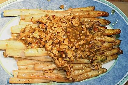 Gebratener Spargel mit Honig und Ziegenfrischkäse - Crêpes 8