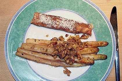Gebratener Spargel mit Honig und Ziegenfrischkäse - Crêpes 11