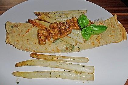 Gebratener Spargel mit Honig und Ziegenfrischkäse - Crêpes 4