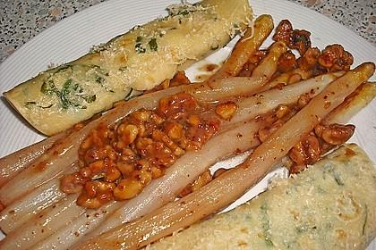 Gebratener Spargel mit Honig und Ziegenfrischkäse - Crêpes 1
