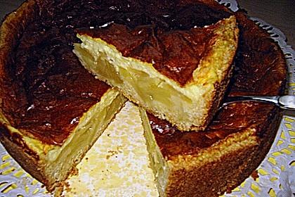Apfelkuchen mit Puddingguss 17