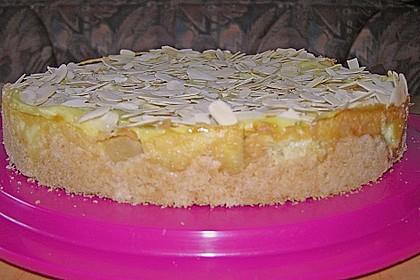 Apfelkuchen mit Puddingguss 3
