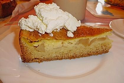 Apfelkuchen mit Puddingguss 1