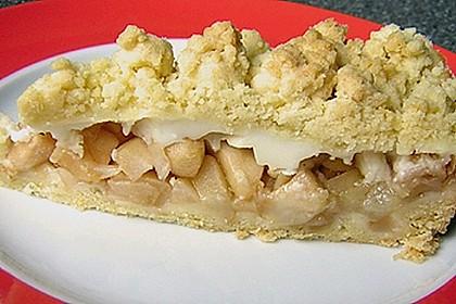 Apfelkuchen mit Puddingguss 16