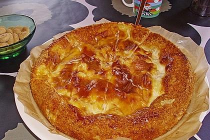 Apfelkuchen mit Puddingguss 6