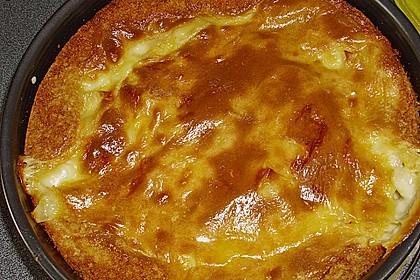 Apfelkuchen mit Puddingguss 10