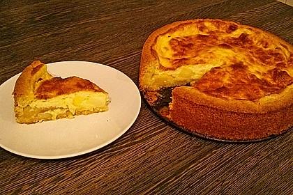 Apfelkuchen mit Puddingguss 9