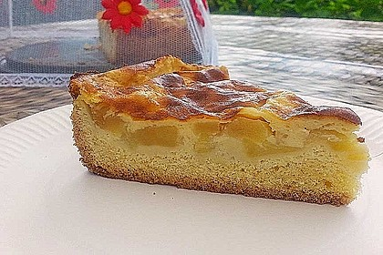 Apfelkuchen mit Puddingguss 0