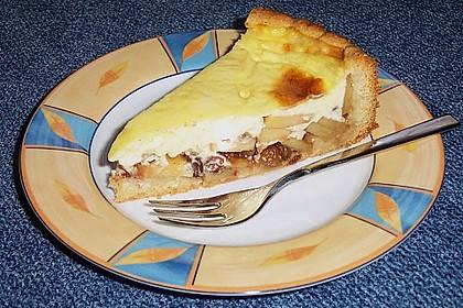 Apfelkuchen mit Puddingguss 8
