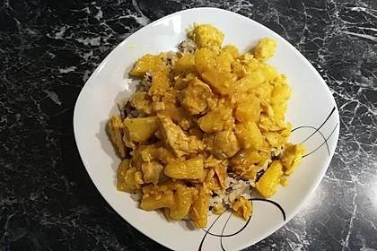 Hähnchenbrustfilets mit Ananas - Curry - Sauce 1