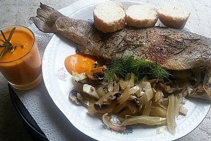 Fenchelforelle mit Sauce Rouille