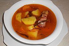 Kartoffelsuppe mit Fleisch
