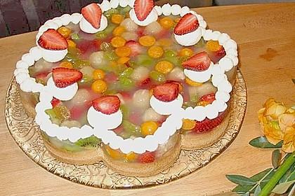 Biskuit mit Keksboden für Obstkuchen 1