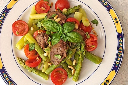 Italienischer Spargelsalat mit Hähnchenleber 1