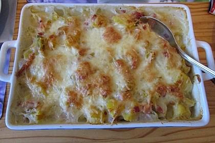 Kartoffel-Lauch-Auflauf mit Schinken 12