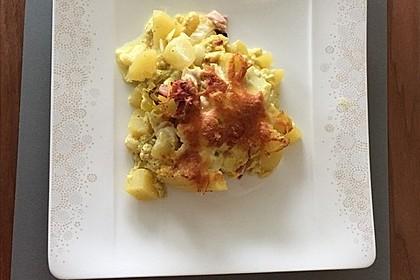 Kartoffel-Lauch-Auflauf mit Schinken 13
