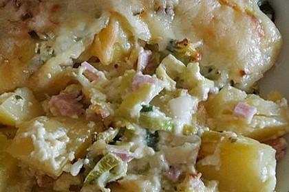 Kartoffel-Lauch-Auflauf mit Schinken 14