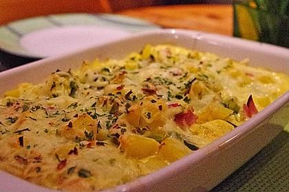 Kartoffel-Lauch-Auflauf mit Schinken 3