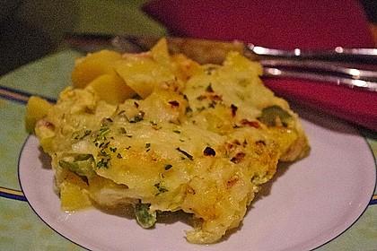 Kartoffel-Lauch-Auflauf mit Schinken 11